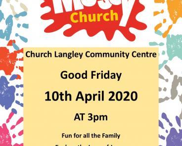 Messy church poster 2020